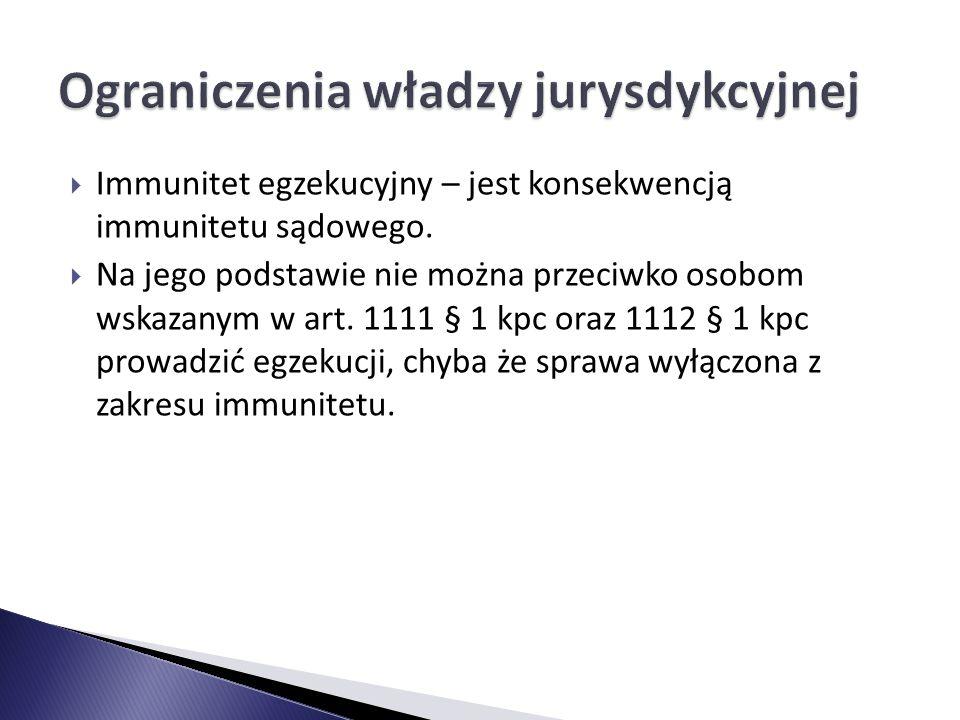 Ograniczenia władzy jurysdykcyjnej