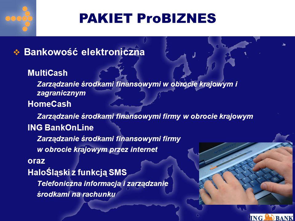 PAKIET ProBIZNES Bankowość elektroniczna MultiCash HomeCash