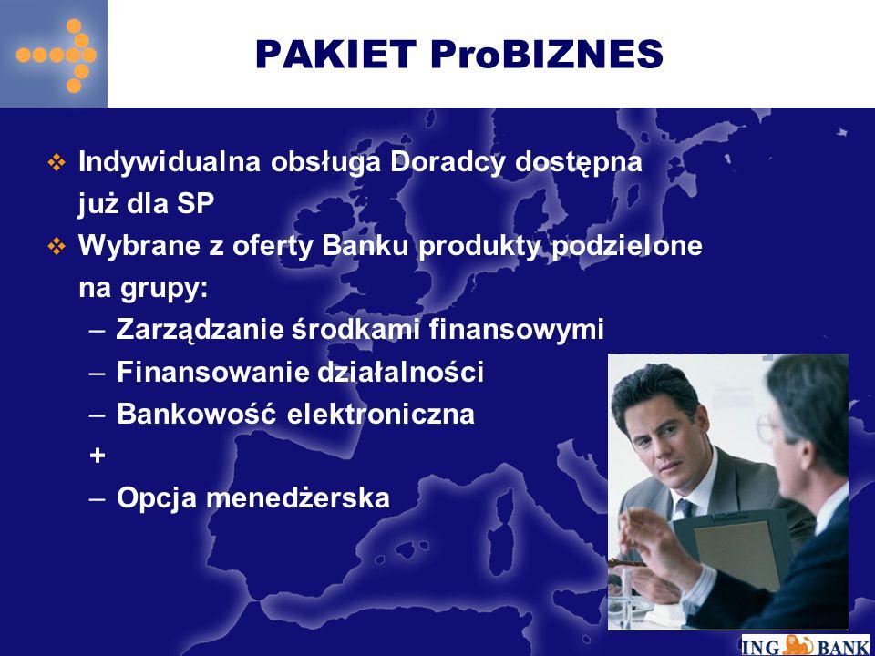 PAKIET ProBIZNES Indywidualna obsługa Doradcy dostępna już dla SP
