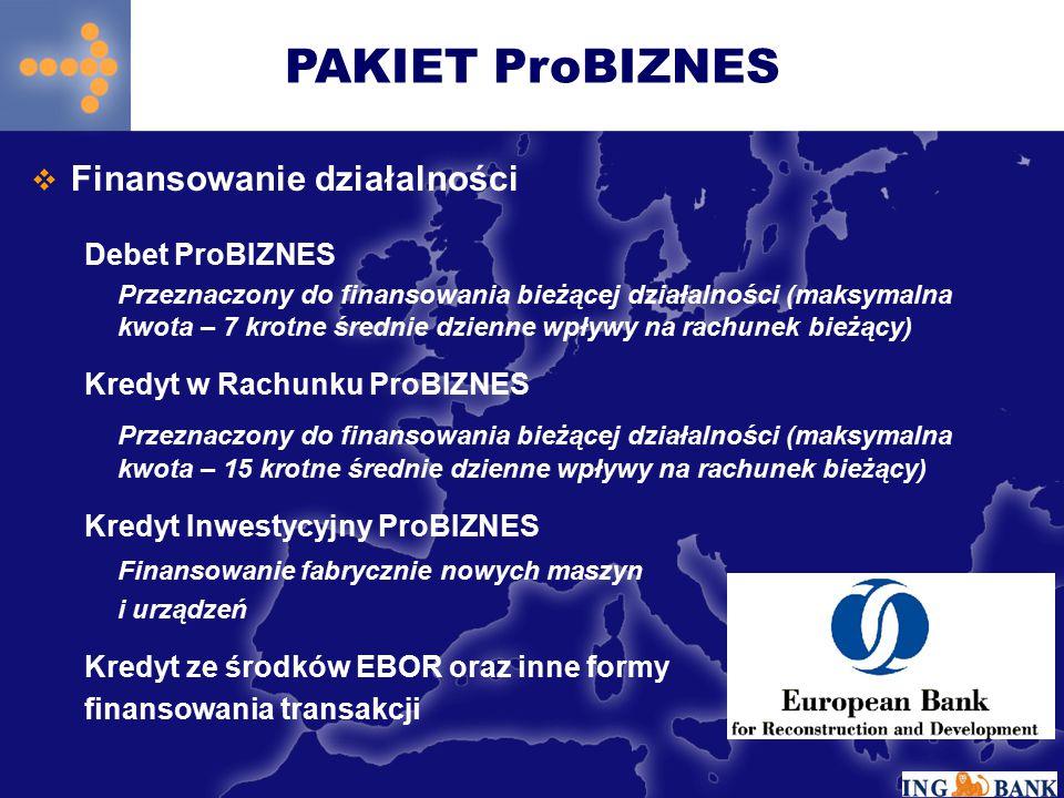 PAKIET ProBIZNES Finansowanie działalności