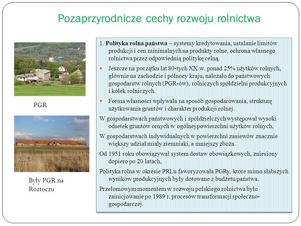 Pozaprzyrodnicze cechy rozwoju rolnictwa