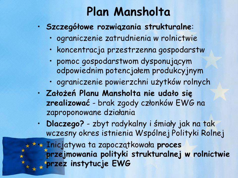 Plan Mansholta Szczegółowe rozwiązania strukturalne: