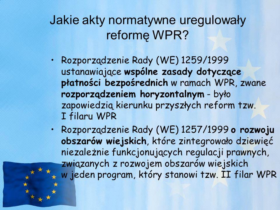 Jakie akty normatywne uregulowały reformę WPR