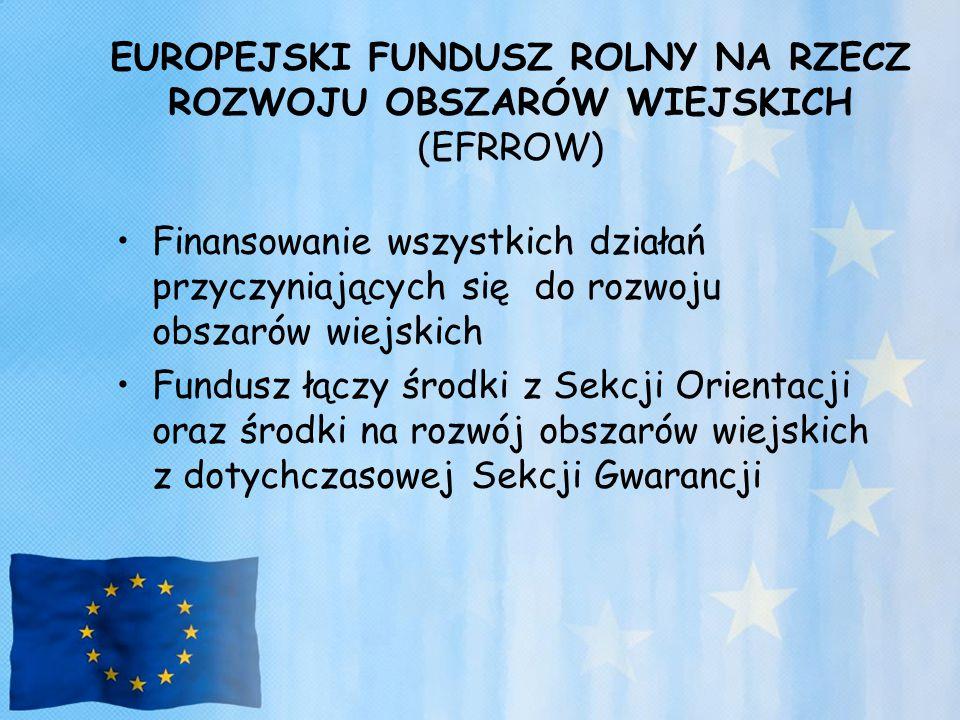 EUROPEJSKI FUNDUSZ ROLNY NA RZECZ ROZWOJU OBSZARÓW WIEJSKICH (EFRROW)