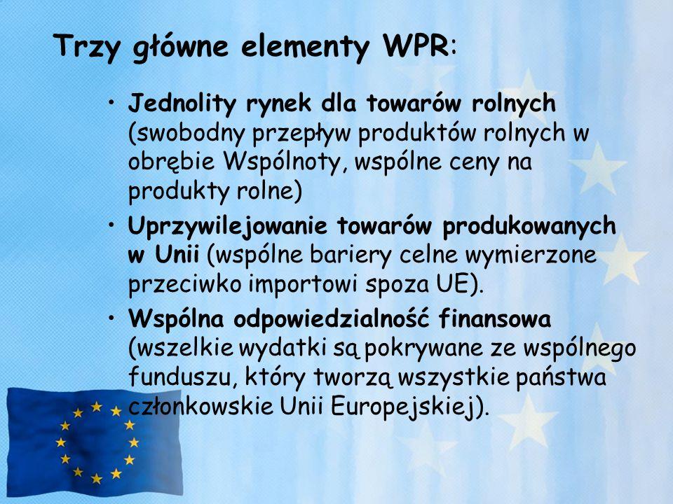 Trzy główne elementy WPR: