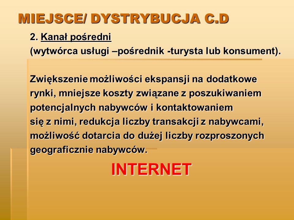 MIEJSCE/ DYSTRYBUCJA C.D