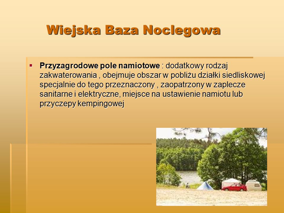 Wiejska Baza Noclegowa