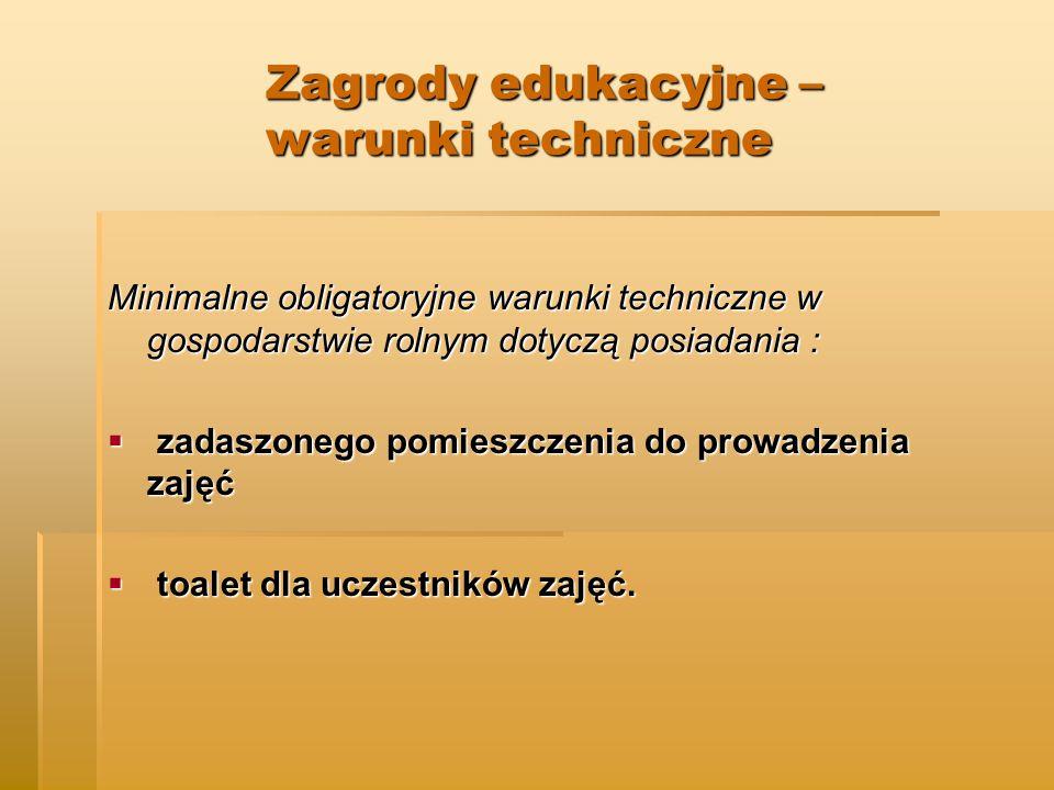 Zagrody edukacyjne – warunki techniczne