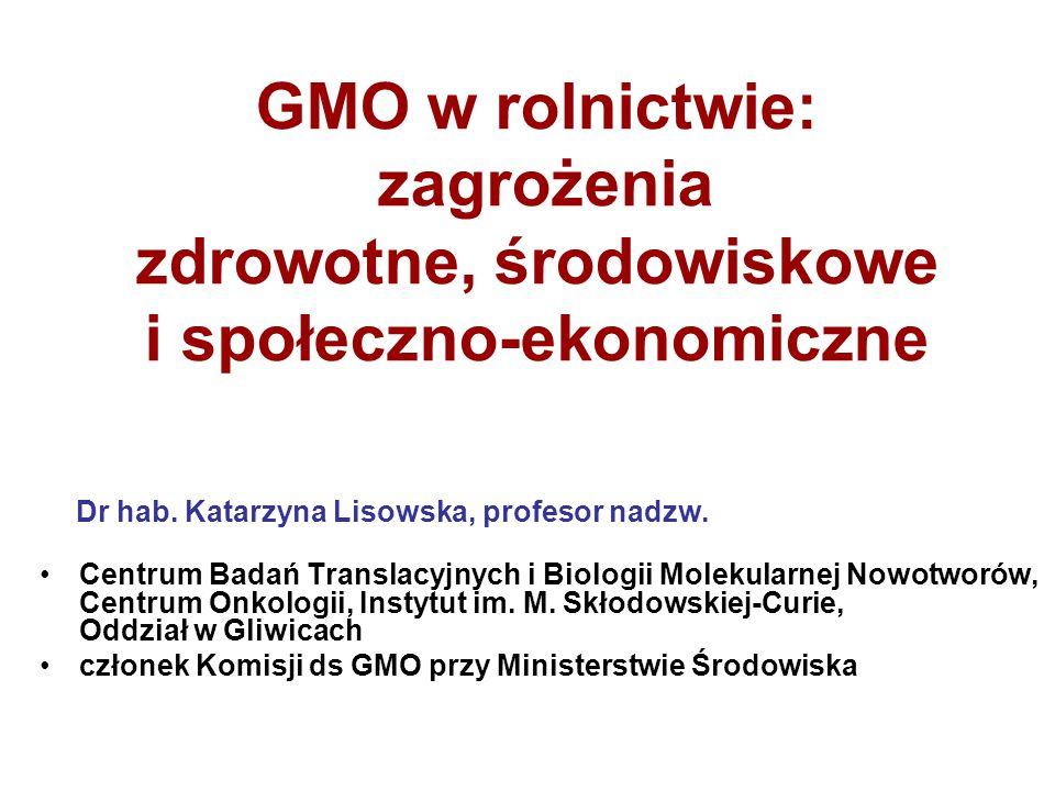 GMO w rolnictwie: zagrożenia zdrowotne, środowiskowe i społeczno-ekonomiczne