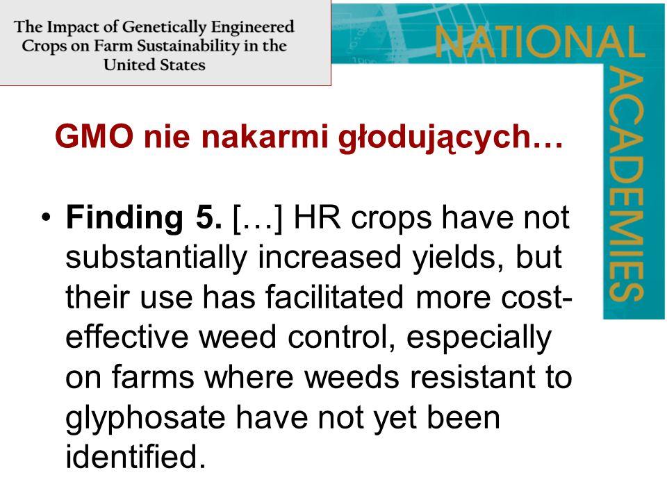 GMO nie nakarmi głodujących…