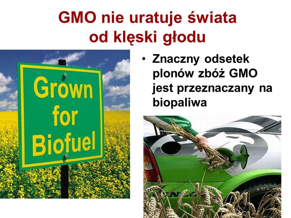 GMO nie uratuje świata od klęski głodu