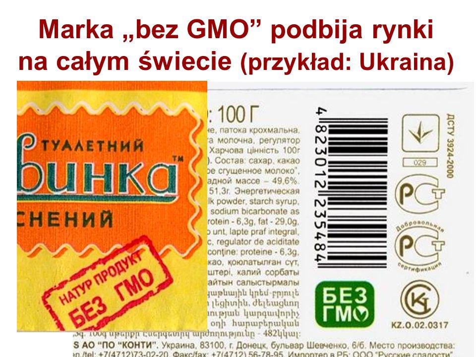 """Marka """"bez GMO podbija rynki na całym świecie (przykład: Ukraina)"""
