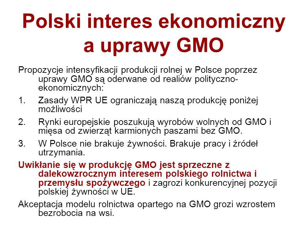 Polski interes ekonomiczny a uprawy GMO