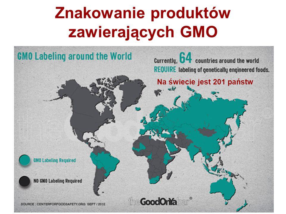 Znakowanie produktów zawierających GMO