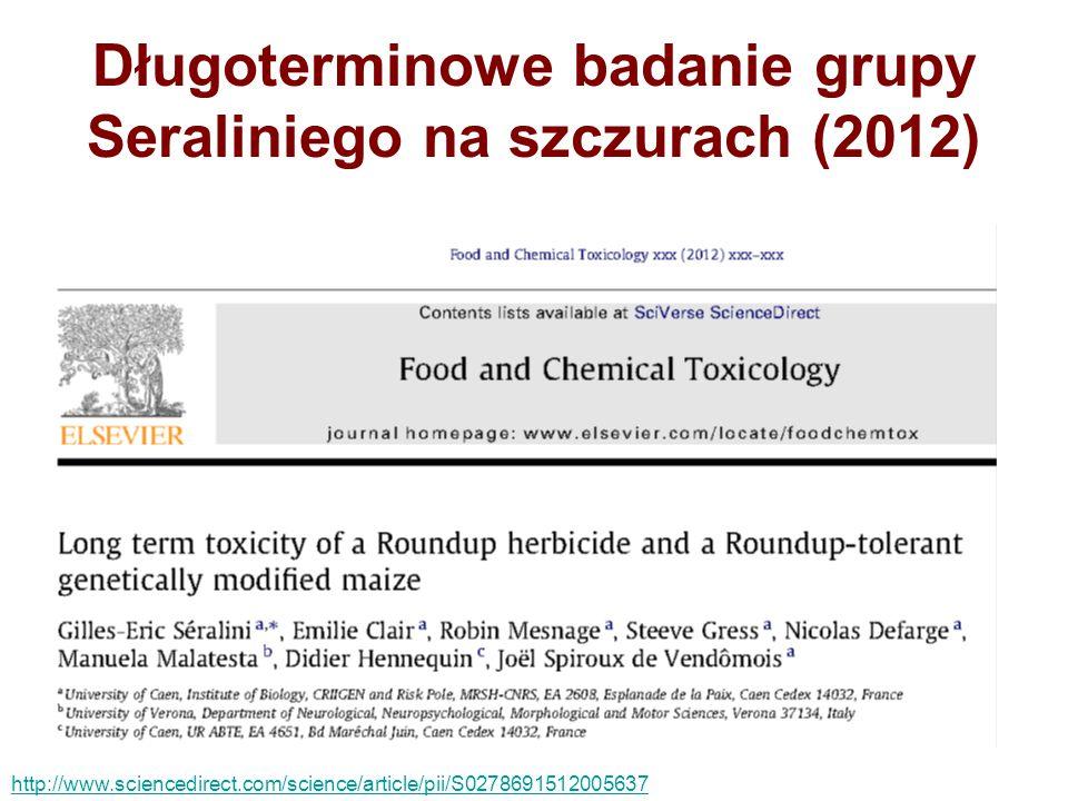 Długoterminowe badanie grupy Seraliniego na szczurach (2012)