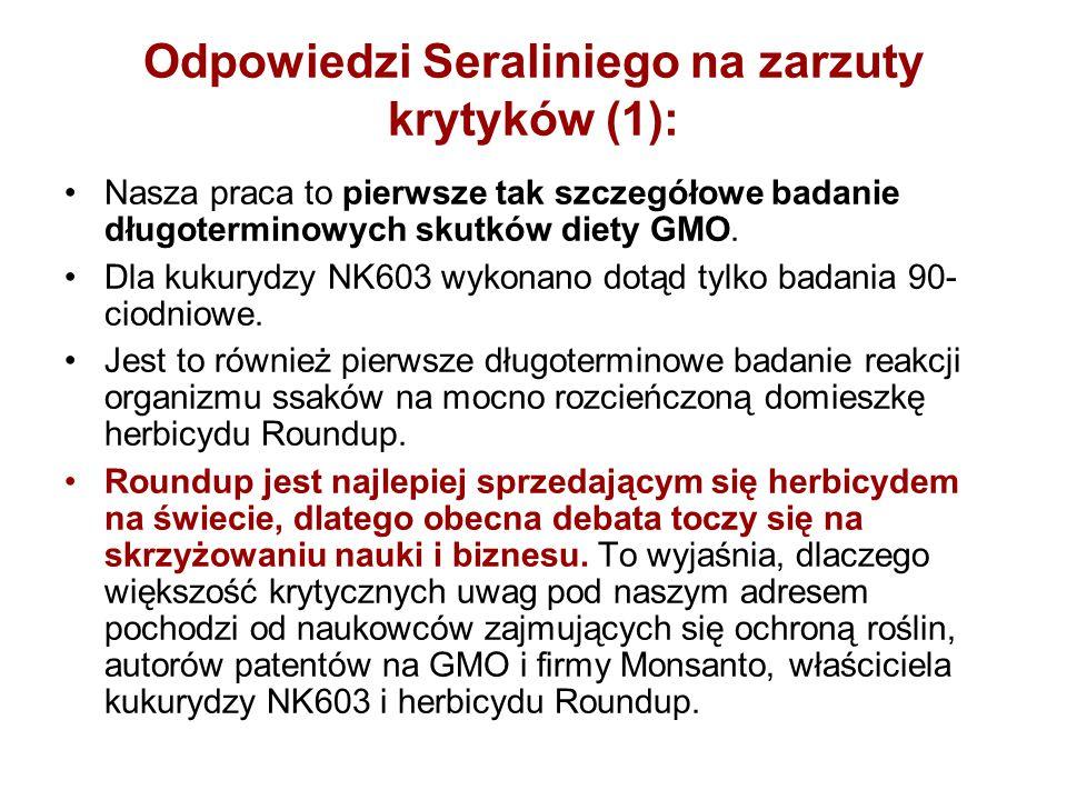 Odpowiedzi Seraliniego na zarzuty krytyków (1):