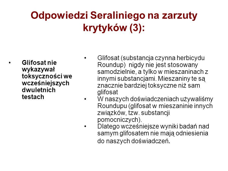 Odpowiedzi Seraliniego na zarzuty krytyków (3):