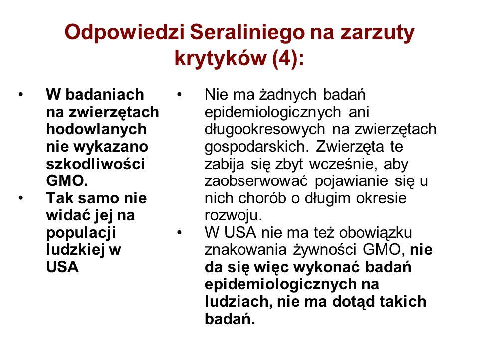 Odpowiedzi Seraliniego na zarzuty krytyków (4):