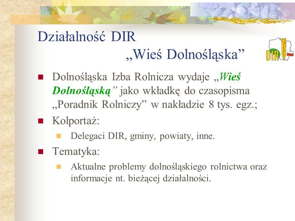 """Działalność DIR """"Wieś Dolnośląska"""