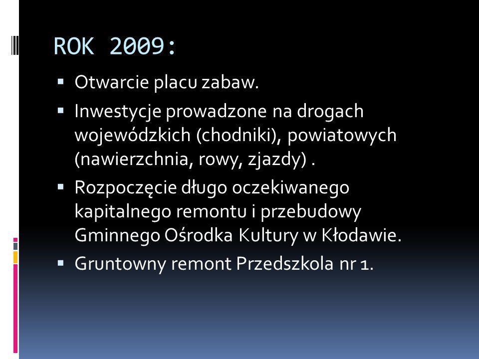 ROK 2009: Otwarcie placu zabaw.