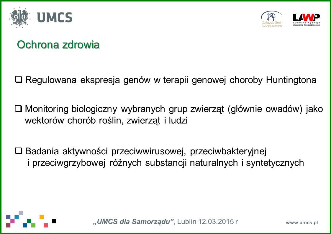 Ochrona zdrowia Regulowana ekspresja genów w terapii genowej choroby Huntingtona.