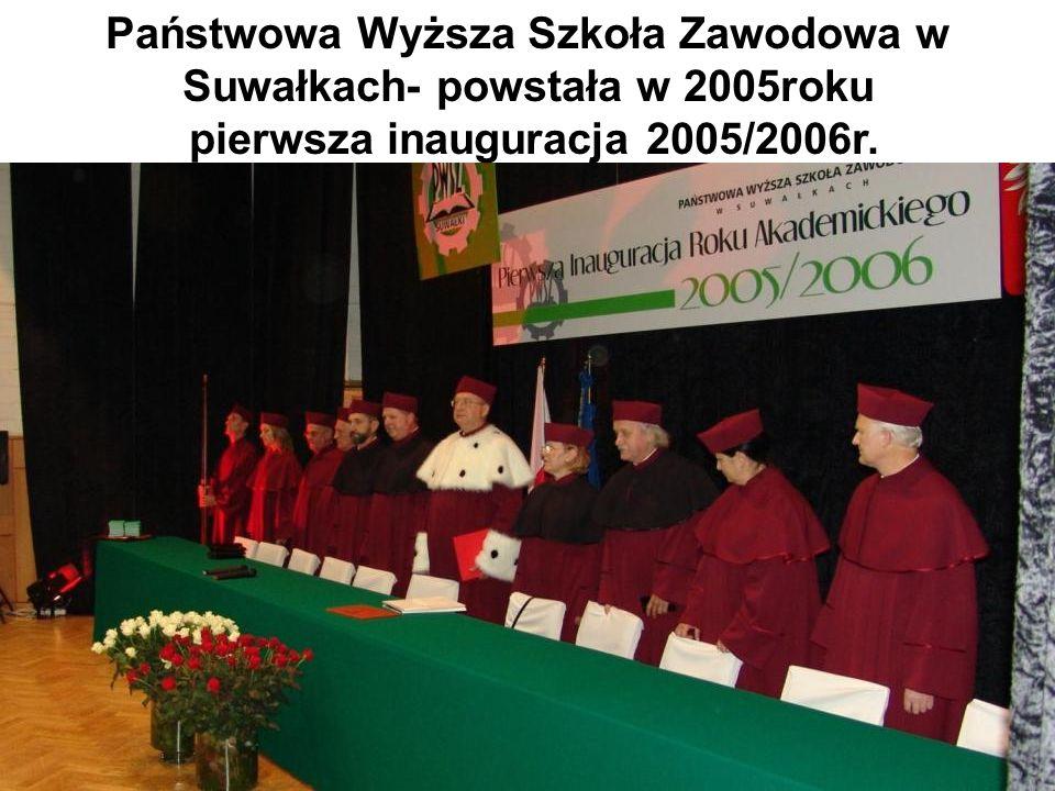 Państwowa Wyższa Szkoła Zawodowa w Suwałkach- powstała w 2005roku