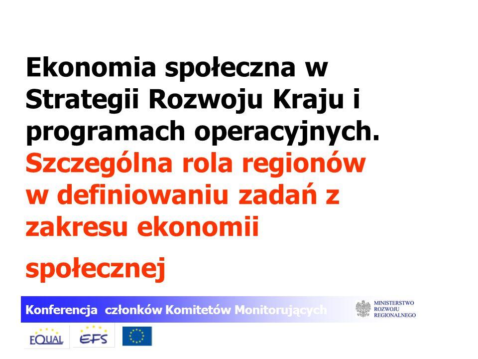 Ekonomia społeczna w Strategii Rozwoju Kraju i programach operacyjnych