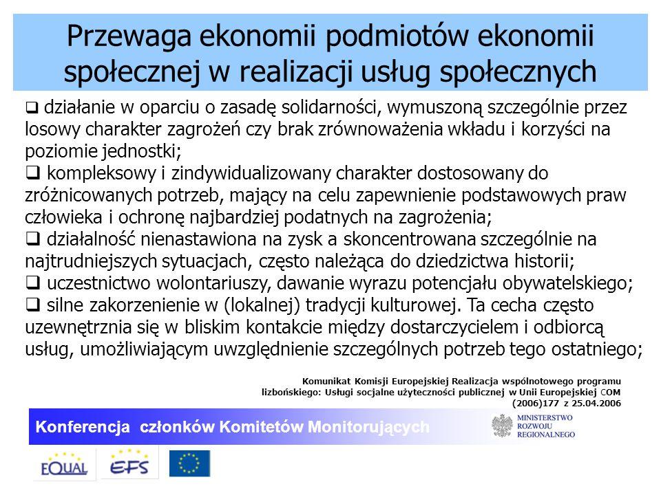 Przewaga ekonomii podmiotów ekonomii społecznej w realizacji usług społecznych