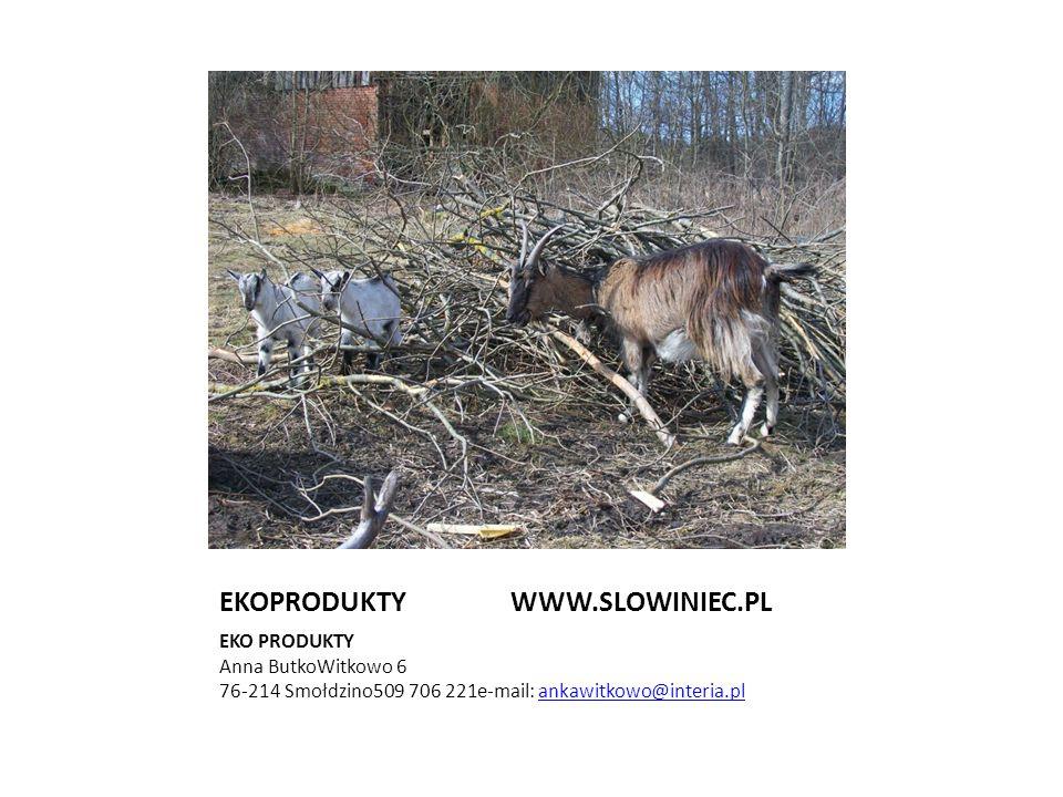 EKOPRODUKTY WWW.SLOWINIEC.PL