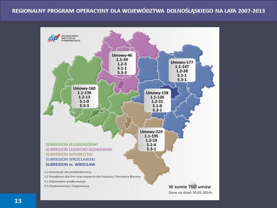 REGIONALNY PROGRAM OPERACYJNY DLA WOJEWÓDZTWA DOLNOŚLĄSKIEGO NA LATA 2007-2013
