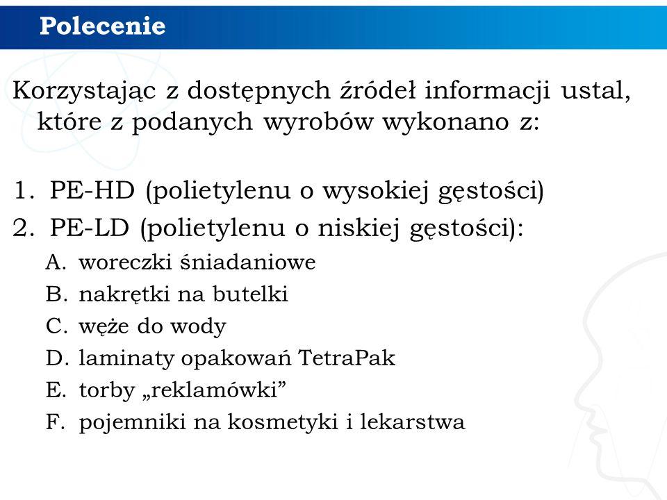 PE-HD (polietylenu o wysokiej gęstości)