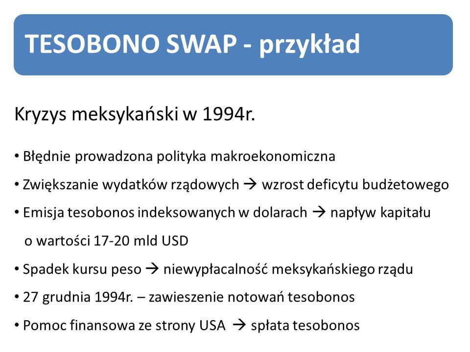 TESOBONO SWAP - przykład