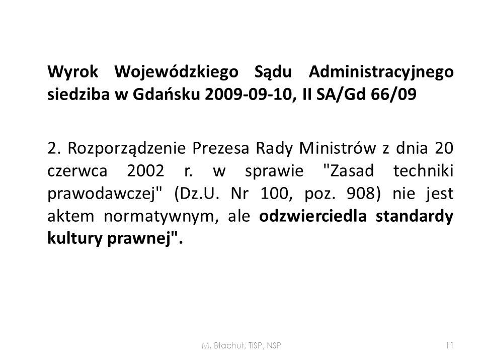 Wyrok Wojewódzkiego Sądu Administracyjnego siedziba w Gdańsku 2009-09-10, II SA/Gd 66/09