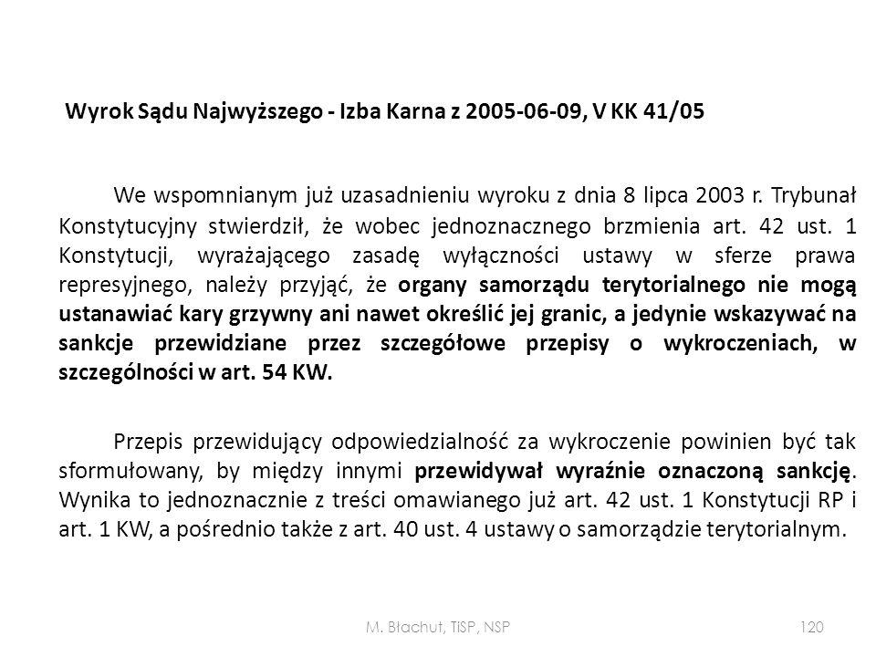 Wyrok Sądu Najwyższego - Izba Karna z 2005-06-09, V KK 41/05