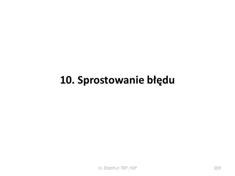 10. Sprostowanie błędu M. Błachut, TiSP, NSP
