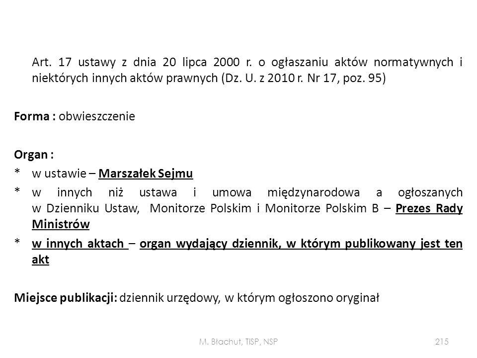 Art. 17 ustawy z dnia 20 lipca 2000 r