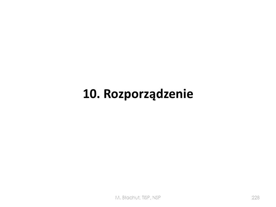 10. Rozporządzenie M. Błachut, TiSP, NSP