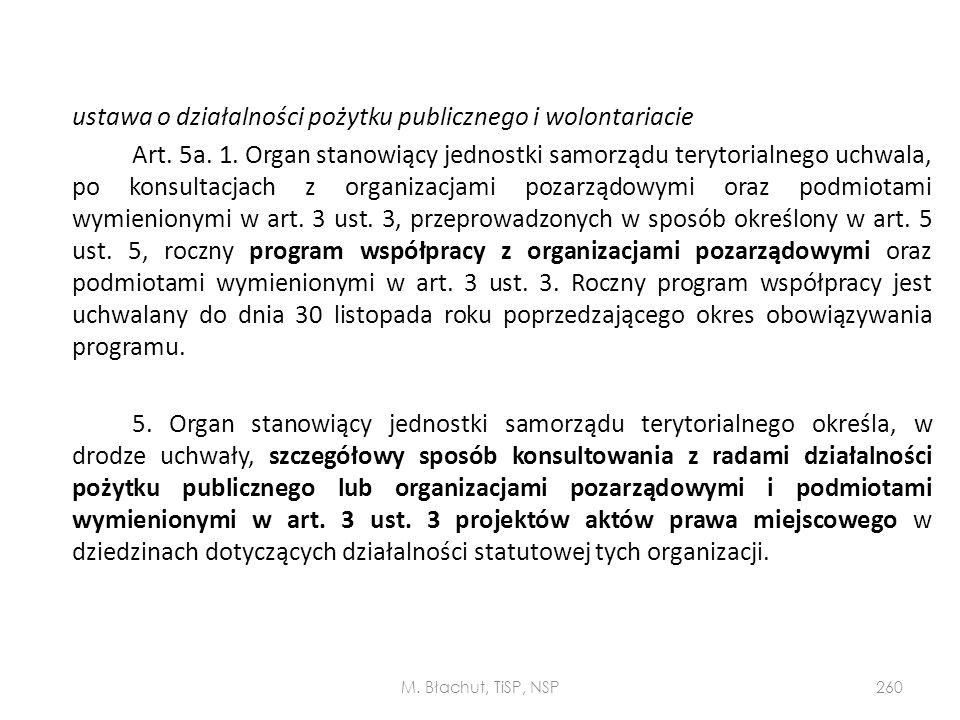 ustawa o działalności pożytku publicznego i wolontariacie Art. 5a. 1
