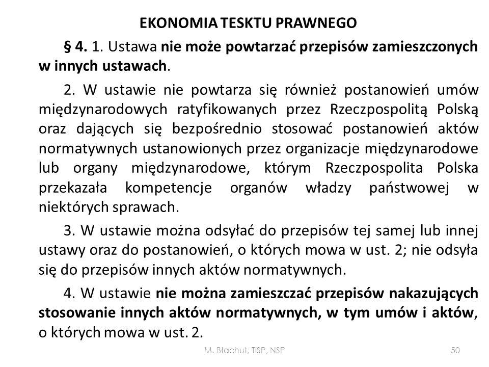 EKONOMIA TESKTU PRAWNEGO § 4. 1