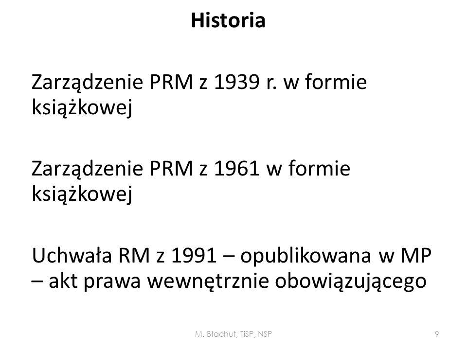 Historia Zarządzenie PRM z 1939 r