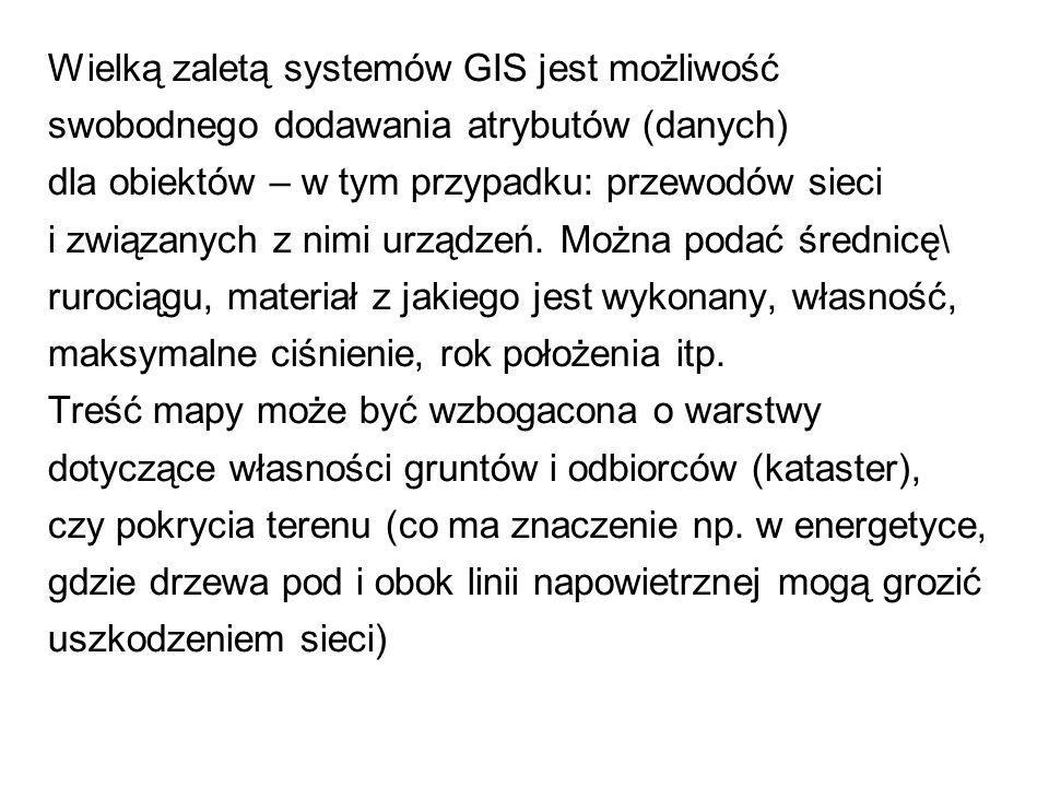 Wielką zaletą systemów GIS jest możliwość