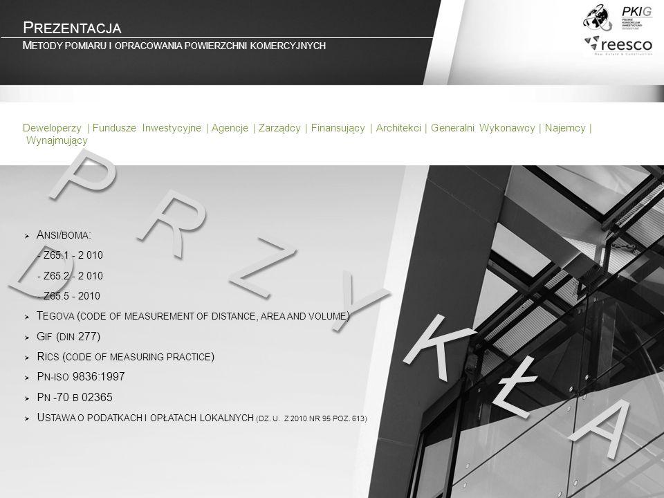 Prezentacja Metody pomiaru i opracowania powierzchni komercyjnych.