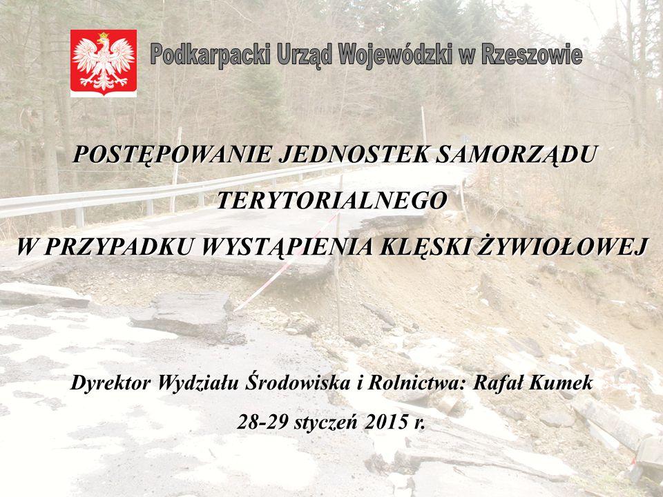 Dyrektor Wydziału Środowiska i Rolnictwa: Rafał Kumek