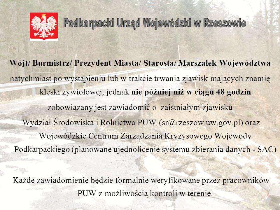Wójt/ Burmistrz/ Prezydent Miasta/ Starosta/ Marszałek Województwa