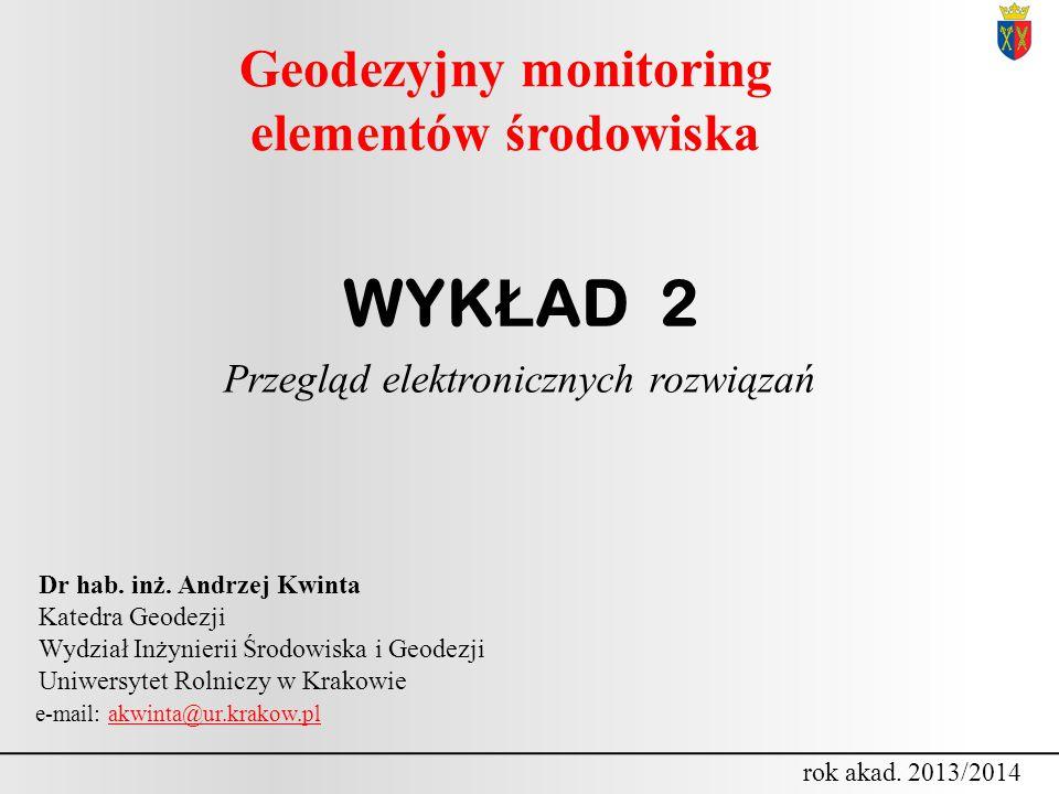 Geodezyjny monitoring elementów środowiska