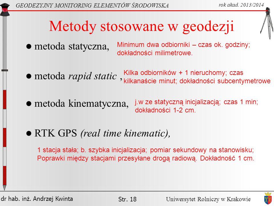 Metody stosowane w geodezji