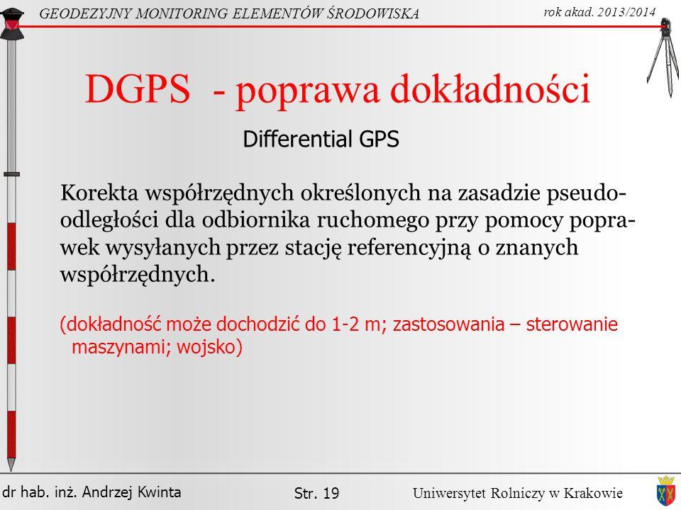 DGPS - poprawa dokładności