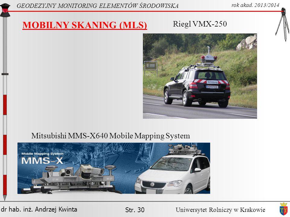 MOBILNY SKANING (MLS) Riegl VMX-250