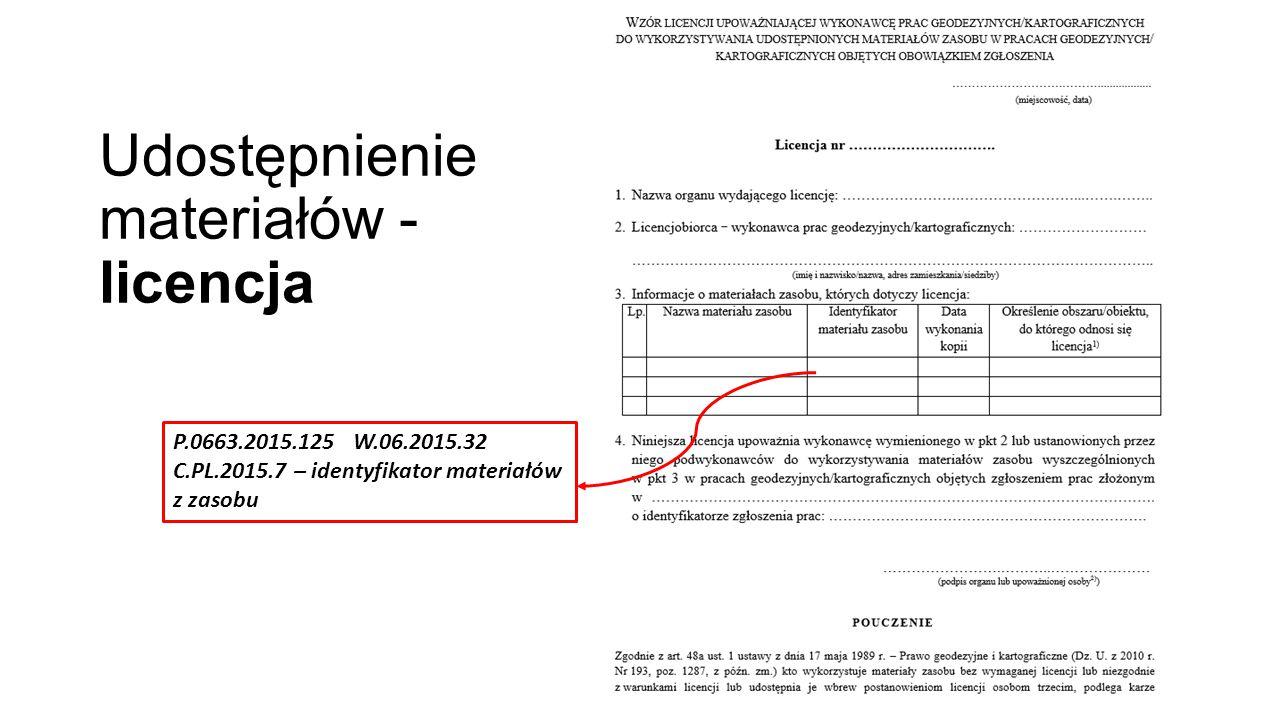 Udostępnienie materiałów - licencja