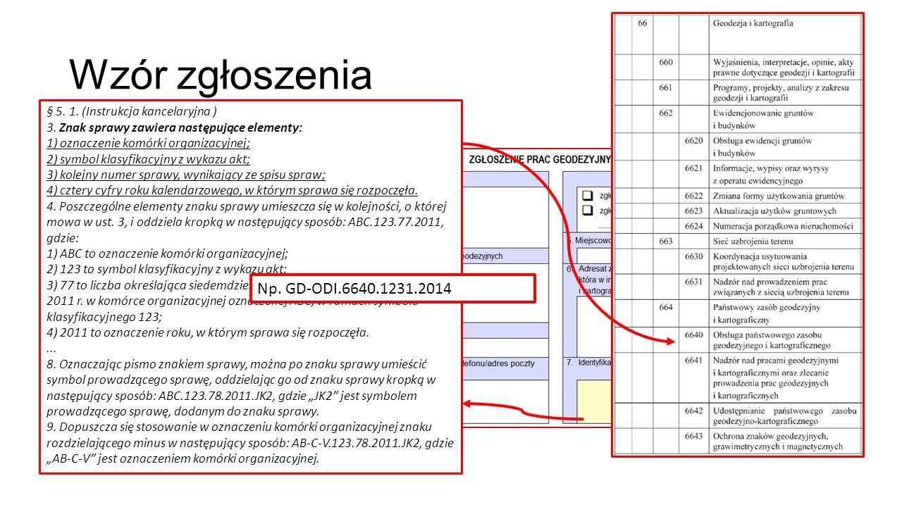 Wzór zgłoszenia Np. GD-ODI.6640.1231.2014